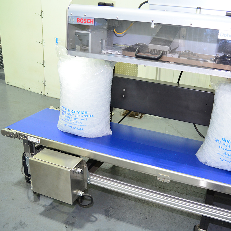 HC200 Conveyors help keep SQF-Certified ice facility clean and efficient